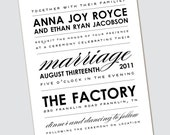 Wedding Invitation Anna Joy - Sample Available
