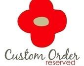 Reserved for Misty - Custom wedding programs