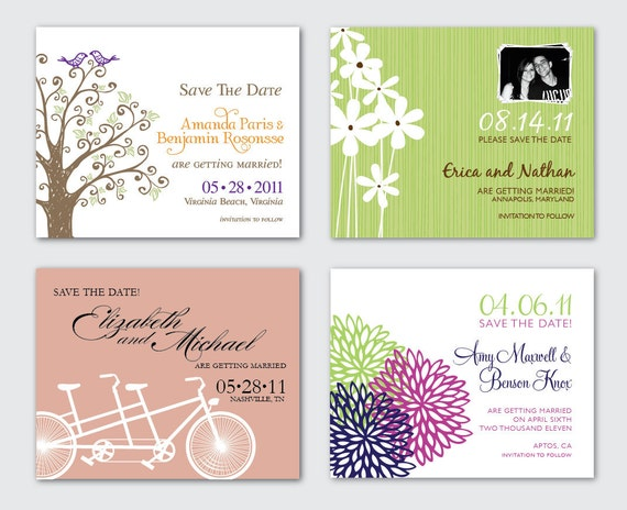 Large 3x4 Save the Date Magnets with Envelopes - Any design in my shop