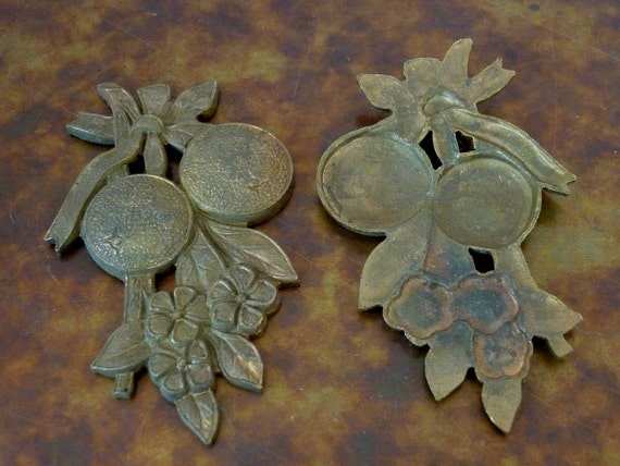 1940s +/- Clearance SALE 2 Vintage Heavy Fruit Cast Stamping C20