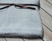 Blue Baby Blanket - Pale Blue, Hand knitted baby blanket