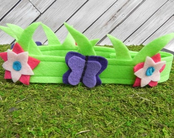 Meadow Fairy Crown - Flower Fairy, party favors, dressup, costume
