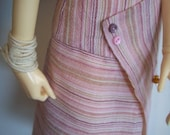 All Wrapped Up - a pink toned wrap skirt for BJD