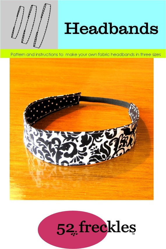 New Sewing PATTERN -  for elastic headband in 3 sizes .pdf free shipping - stash buster, diy
