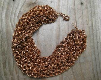 Insouciant Studios Point of Balance Copper Chain Bracelet