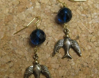 Insouciant Studios Flights of Fancy Swallow Earrings