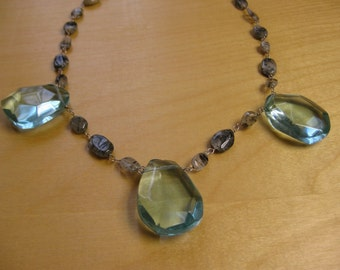 Insouciant Studios The Ocean in Winter Necklace Sterling Silver and Rutilated Quartz
