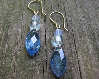 Insouciant Studios Blue Sky Earrings 14k Gold