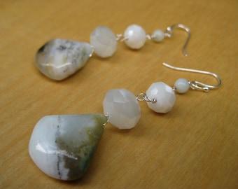 Insouciant Studios Alluvium Earrings Ocean Quartz