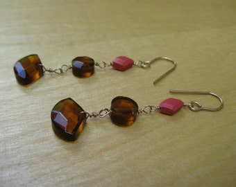 Insouciant Studios Wine and Whisky Earrings