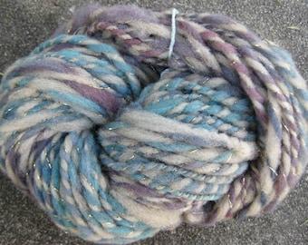 Woolpops Blueberry Pie 2 ply bulky yarn 107 yards