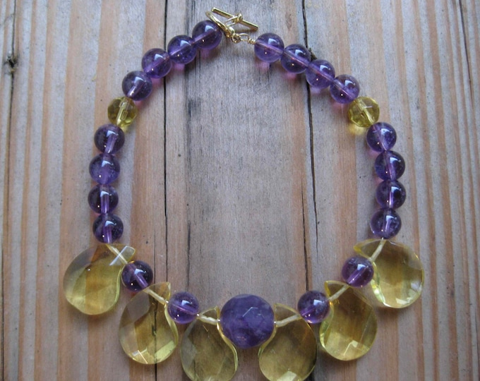 Insouciant Studios Exotics Collection Harem Bracelet Citrine and Amethyst