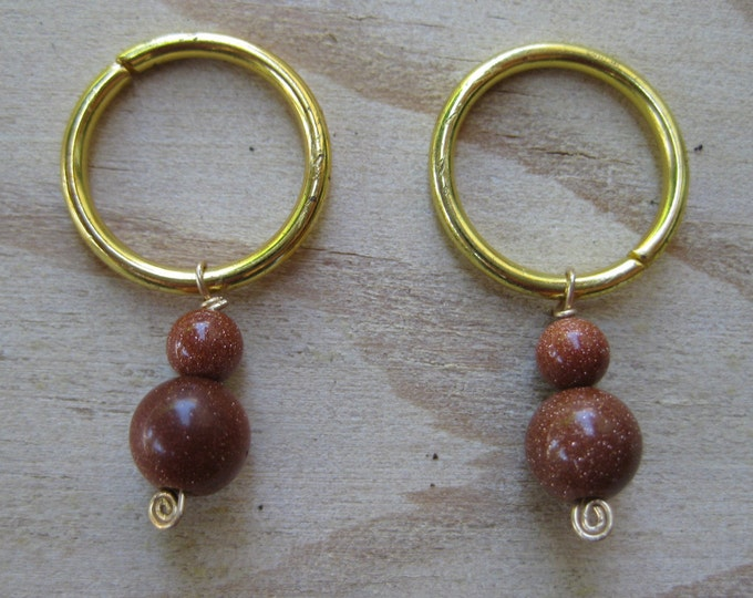 Woolpops Sun Sparkle Copper Goldstone Stitch Markers