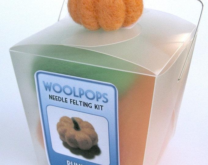 Woolpops Pumpkin Needle Felting Kit With Foam Pad