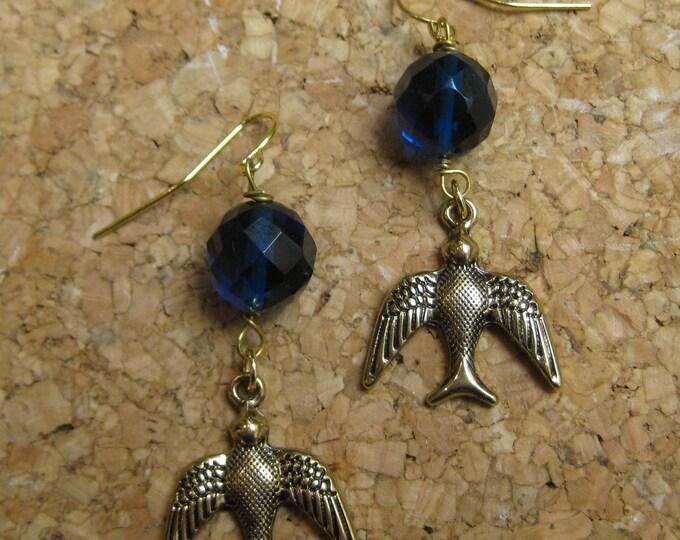 Insouciant Studios Flights of Fancy Swallow Earrings