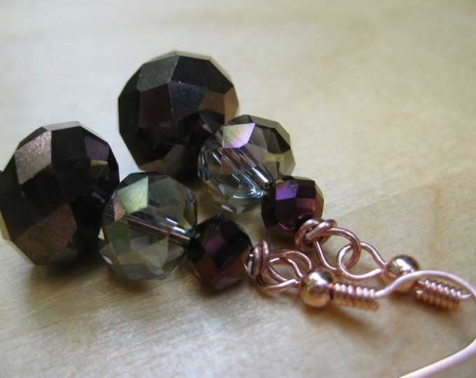 Insouciant Studios Turning Leaves Earrings Autumn Crystal