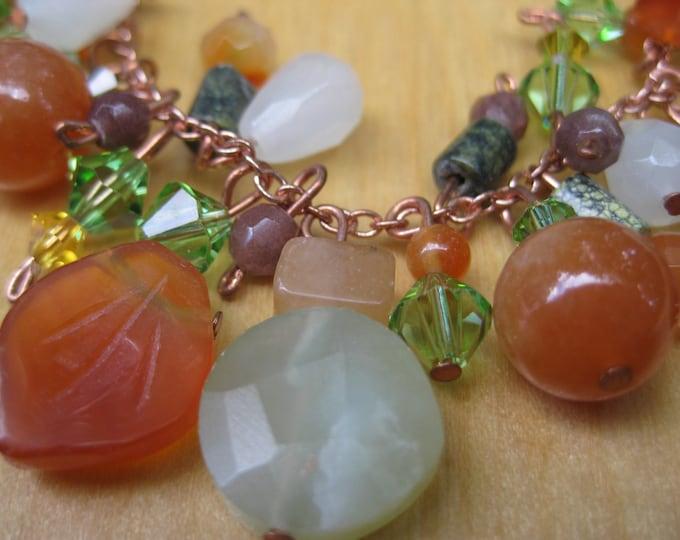 Insouciant Studios Harvest Bracelet and Earring Set in Autumn