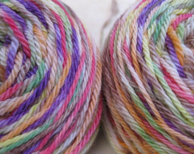 Woolpops  Fingering Weight Sock Yarn Falling Leaves Colorway Merino Lace