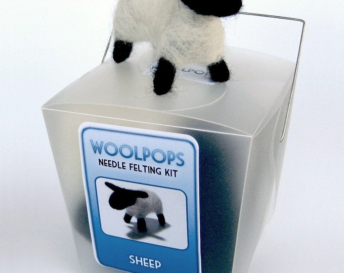 Woolpops Sheep Needle Felting Kit With Deluxe Felting Foam Pad
