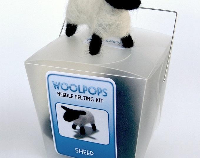 Woolpops Sheep Needle Felting Kit With Deluxe Felting Foam Pad