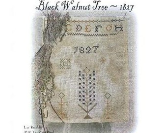 cross stitch pattern - Black Walnut Tree 1827 - from Notforgotten Farm