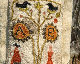Punch Needle Pattern - Colonial Adam & Eve - from Notforgotten Farm