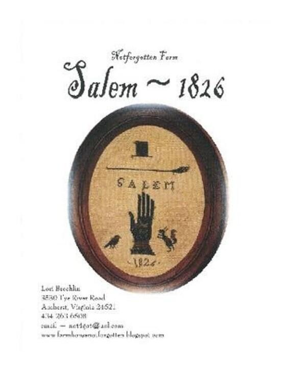 NEW 2010 - Salem 1826 - cross stitch pattern