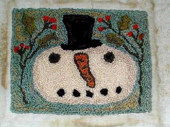 Jack Frost primitive needle punch pattern from Notforgotten Farm - Etsy Folk Team