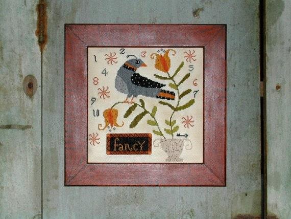 Potted Fancy  cross stitch pattern  Notforgotten Farm