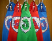 SuperHero Cape and MASK Set- Personalized- You Choose Color, Emblem and Name - FUN FUN