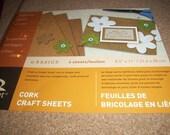 DESTASH -- Cork Crafting Sheets
