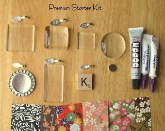 Premium Starter Kit- Learn how to make glass pendants, scrabble tile pendants, bottle cap pendants, decorative magnets