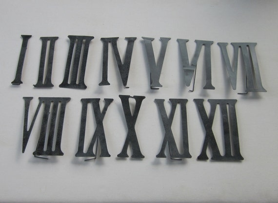 r mische ziffern zahlen 1 bis 12 aus metall von gardenbarn auf etsy. Black Bedroom Furniture Sets. Home Design Ideas