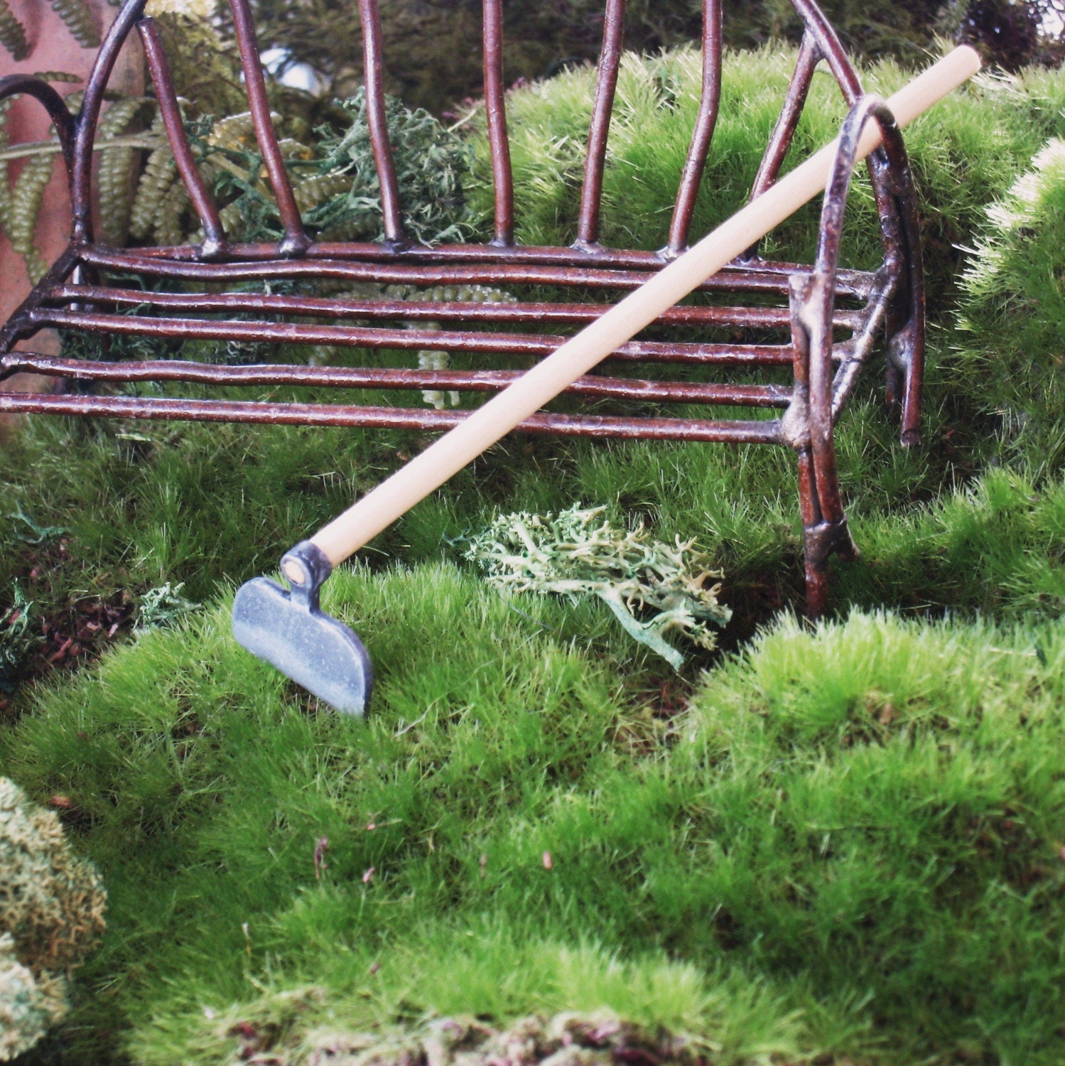 Garden hoe for miniature garden terrarium or fairy garden for Picture of a garden hoe