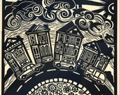 EVERY DAY is a Journey original relief linocut