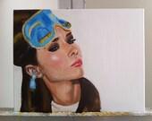 "ORIGINAL Painting - Holly Golightly Audrey Hepburn 11""x14"""