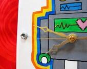LOVEBOT Handpainted Art Clock