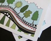 Tree Parade (4 Blank Cards)
