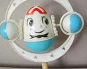 Vintage Humpty Dumpty Crib Toy Rattle