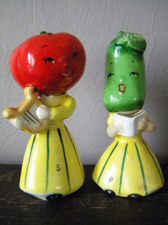 Vintage Napco Anthropomorphic Vegetable Salt By