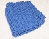 Knitted Cotton Dish Cloth - Blueberry