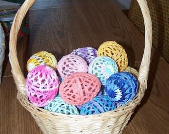 Baker's Dozen Crocheted Eggs