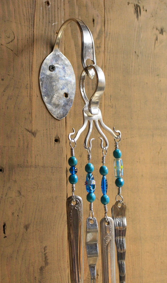 Silverware wind chime for Wind chimes out of silverware