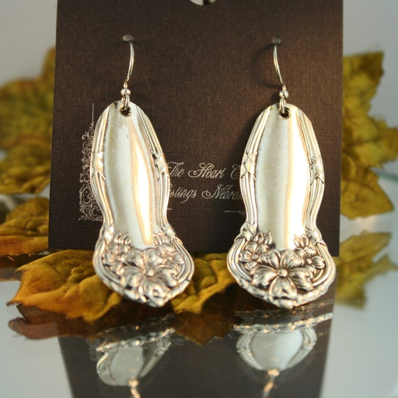 Silverware Earrings (Arbutus)