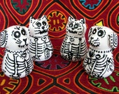 Dog and Cat Skeleton Salt & Pepper Shakers for Day of the Dead and All Year Long