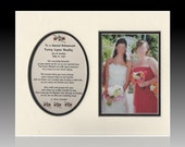 Personalized TO ASPECIAL BRIDESMAID wedding gift