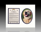 Rainbow Bridge Personalized Dog Cat Pet Memorial Tribute Death of a Pet
