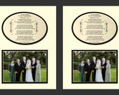 To Our Parents on My Wedding Day Personalized Gift wedding favor set of two