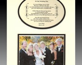 To My Aunt  and Uncle On My Wedding Day Personalized Bridal Party Gift favor Bride Photo