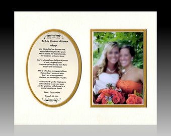 Wedding Personalized Maid Matron of Honor Wedding Bridal Party Gift Favor